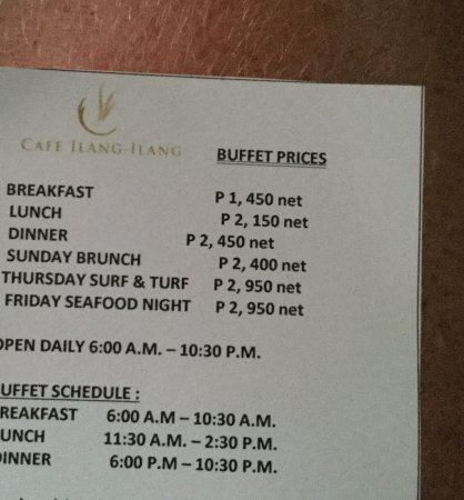 Cafe Ilang-Ilang: Prices