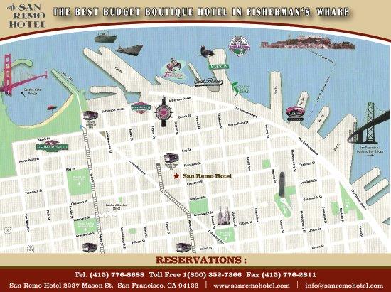 Map Picture of San Remo Hotel San Francisco TripAdvisor