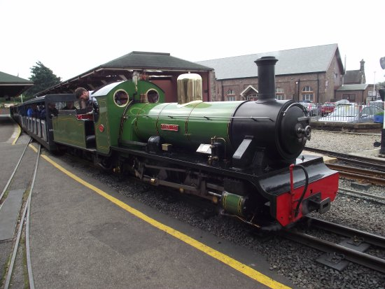 "Loco ""Little Irt"" at Ravenglass station."