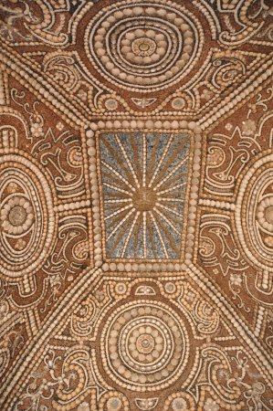 Alcacovas, Portugal: Paço dos Henriques - Capela das Conchas (tecto)