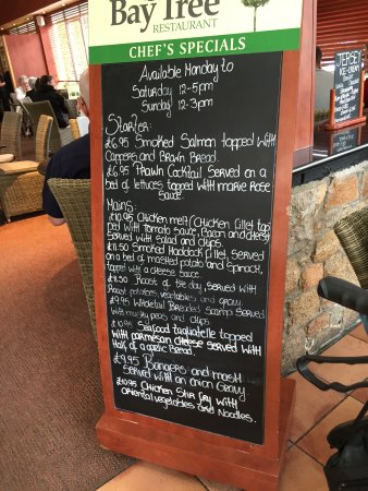 St. Peter, UK: Specials board of the day