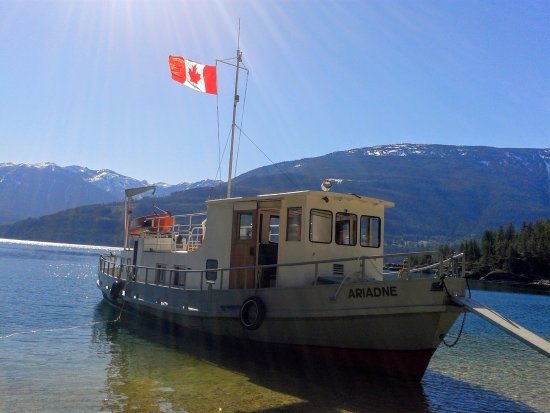 Ariadne at Campbell Bay, across from Kaslo B.C.