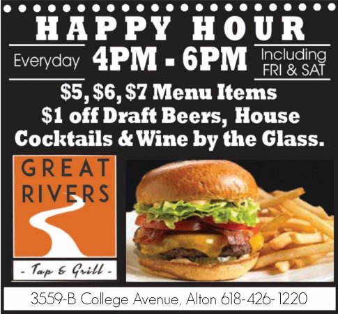 Alton, IL: Happy Hour Daily 4-6 p.m.