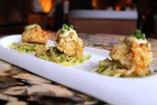 Tysons Corner, VA: Crab Cakes with Green Apple Salad and Cajun Remoulade