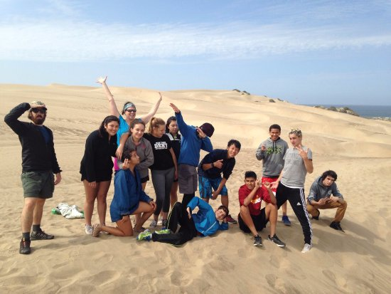 Morro Bay, CA: Group shot on the dunes