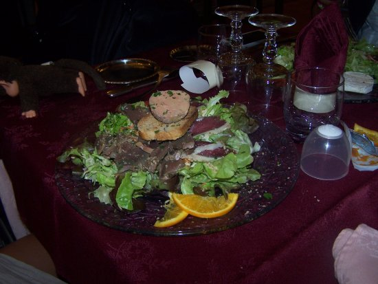 Auberge de L'Ile: salade attention 20 €