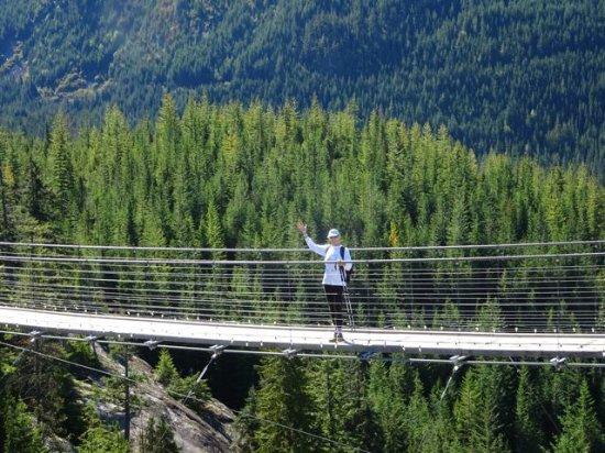 Squamish, Kanada: Suspension bridge.