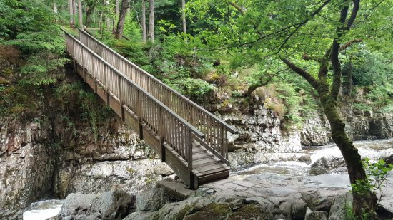 Bod Gwynedd Bed & Breakfast: Miners Bridge. 1/3rd mile up the road. Cross over and follow the river back into the village.