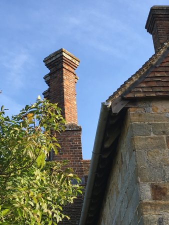 Burwash, UK: Bateman's against a late summer sky