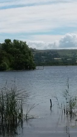 Llangorse, UK: View over the lake