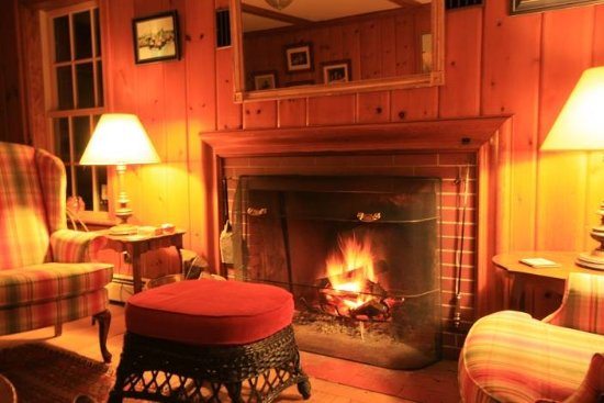 Mountain Village Farm B&B: Living Room Fire Place