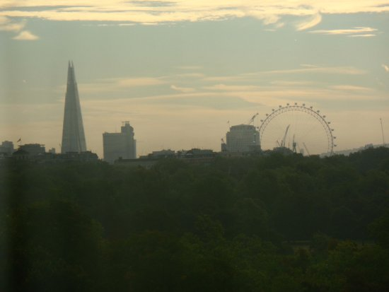 Thistle Kensington Gardens: View from room 225. The Shard and eye.