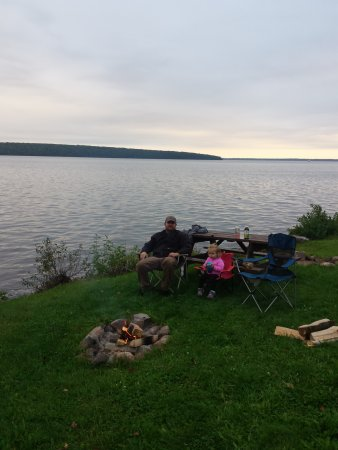 Red Cliff, WI: Fire Pit at site 7