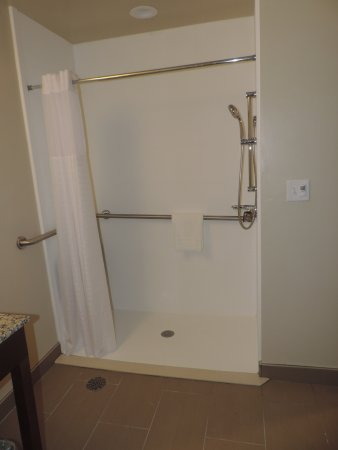 Wheatland, WY: ADA Accessible Roll In Shower.