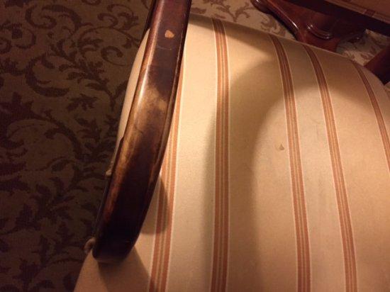 Monte Carlo Resort & Casino: worn chair arms
