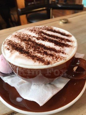 Ohakune, Yeni Zelanda: Yummy hot chocolate.