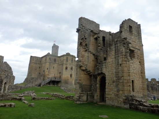 Warkworth, UK: Inside the castle grounds.