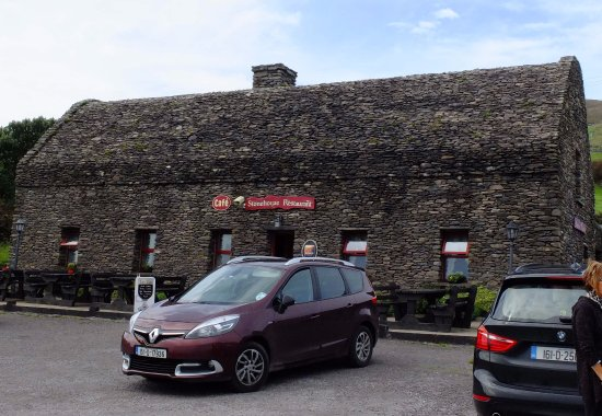 Ventry, Irland: The cafe and visitor centre at Dunbeg Fort