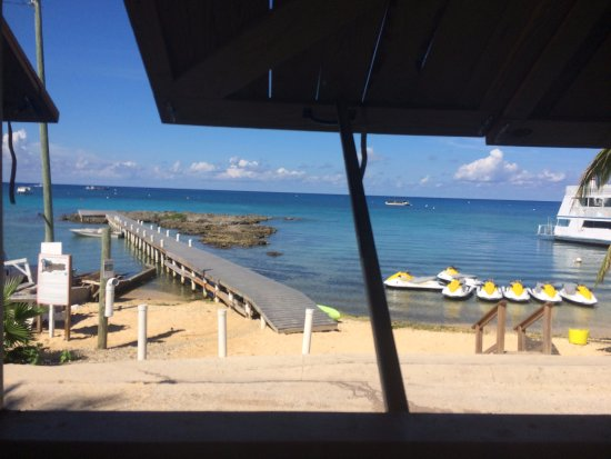 George Town, Grand Cayman: The view from the SeaLand Adventure Tours' facility.