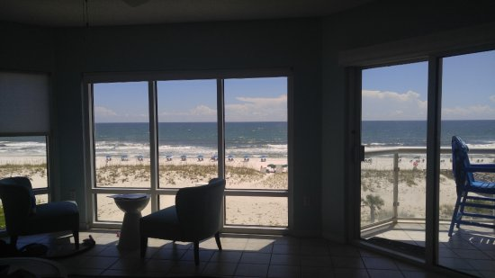 Emerald Isle Resort and Condominiums: view from living room and from balcony