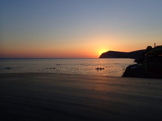 Skala Eresou, Greece: Sunset