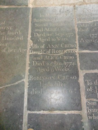 King's Lynn, UK: Robinson cruso but died after the book was published