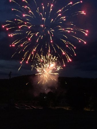 Kingfield, ME: Across the street fireworks.