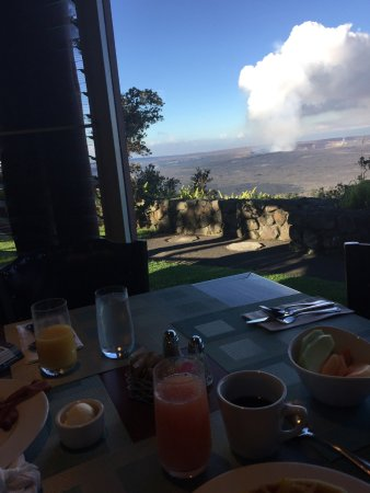 Volcano House: View from Breakfast