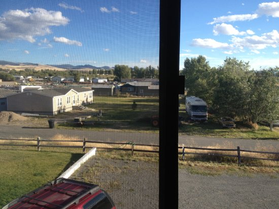 Deer Lodge, MT: looking out of the window