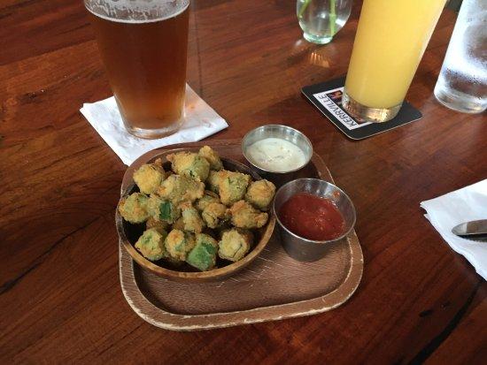 Kerrville, Teksas: Fried okra