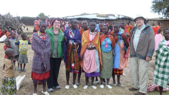 Cottar's 1920's Camp: The wonderful Masai people during our visit to their village