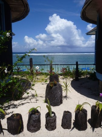 Litia Sini Beach Resort: Garden Fale Room View