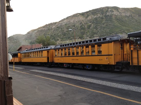 Historic Downtown Durango: the old train at the station