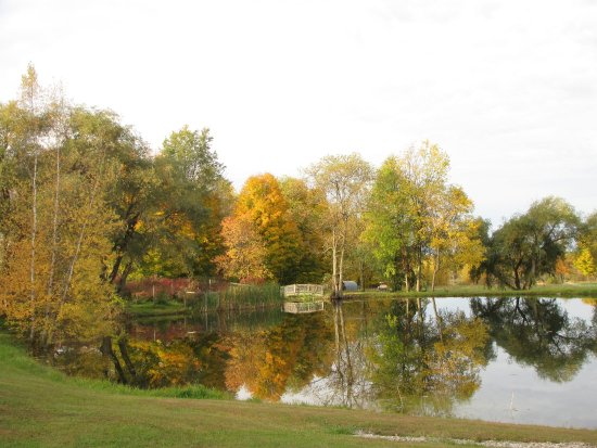 Canton, estado de Nueva York: Fall view of the pond.