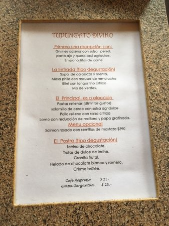 Province of Mendoza, Argentina: our menu