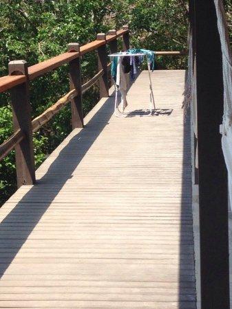 La única falencia de la Pousada Vila Pitanga fue permitirles poner un tender en la terraza común
