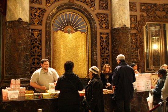 The Landmark Loew's Jersey Theatre: Volunteers run the snack bar.