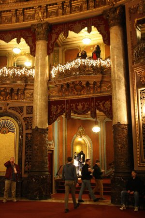 The Landmark Loew's Jersey Theatre: Many original furnishings and details are still in place.