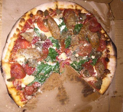 Hawaii Kai, HI: Lava Tube Pizza at Sophie's Gourmet Hawaiian Pizza