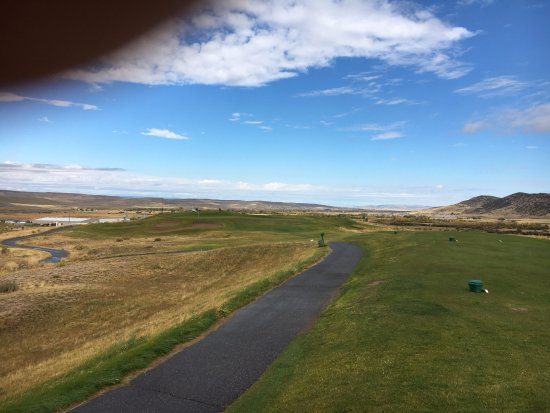 Caldwell, ID: typical view from the back 9