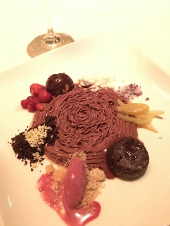 Jean Georges: Chocolate & passionfruit mousse. Sweet, tart & delighfully refreshing