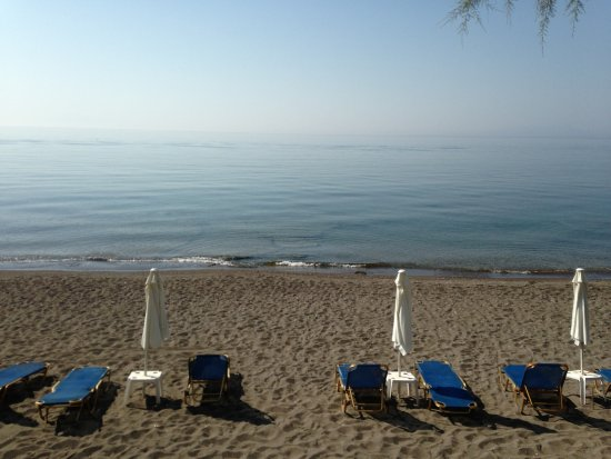 The view of the Aegean Sea from the Hotel Vatera Beach.