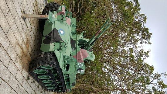 Kinmen, Taiwán: 於展館外的防空軍車