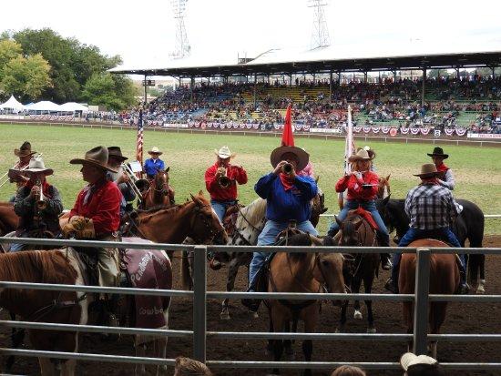 The Pendleton Mounted Band serenading us