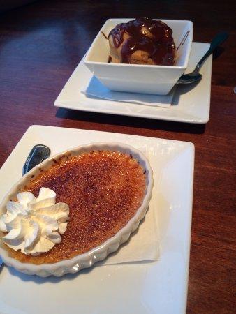 Saint Clair Shores, MI: Dessert: Sanders Cream Puff & Vanilla Creme Brulee