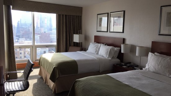 Holiday Inn L.I. City - Manhattan View: Nice view didn't balance out dirty rug, broken shower stall, or smelly hallway