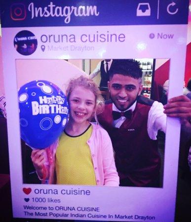 Market Drayton, UK: Grace Celebrating Birthday Party at ORUNA