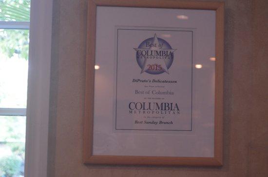 DI Prato's: Best of Columbia-2015