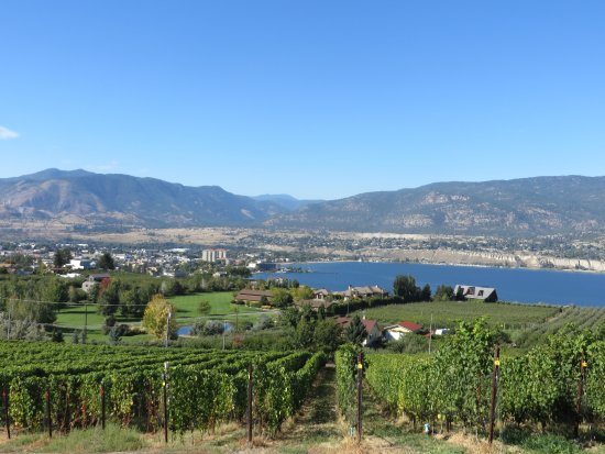 Penticton, Canadá: The view from the walkway to tasting room
