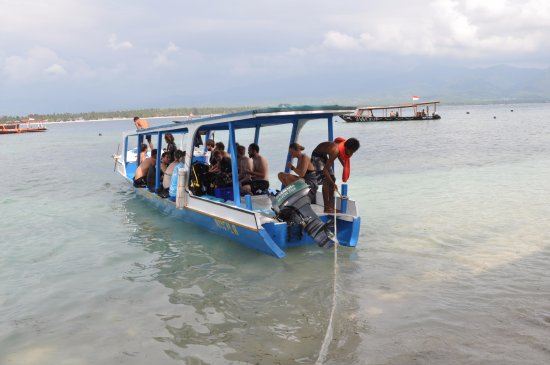 Gili Air, Endonezya: Sheila is away for the dive